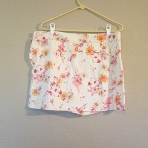 White Pink Orange Ann Taylor Size 12 Mini Skort